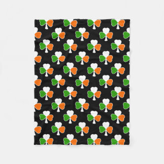 Shamrock Pattern | Irish Flag Fleece Blanket