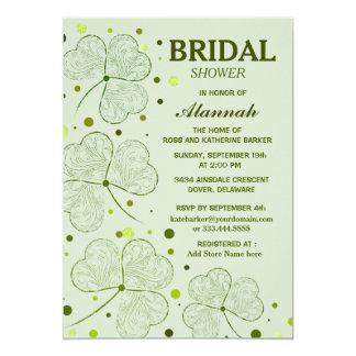 Shamrock Polka Dots Bridal Shower 2 13 Cm X 18 Cm Invitation Card