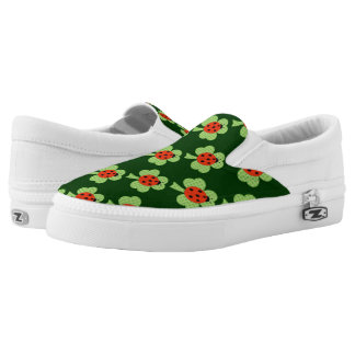Shamrock Polka dots Ladybug Ladybird pattern Slip-On Shoes