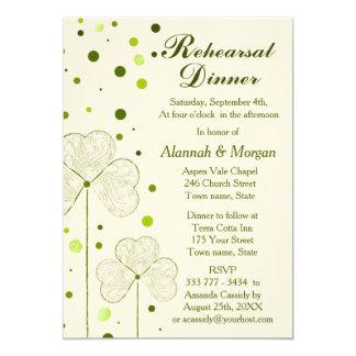 Shamrock Polka Dots Wedding Rehearsal Dinner 13 Cm X 18 Cm Invitation Card