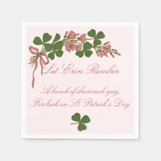 Shamrock Posy Disposable Napkin
