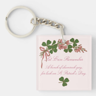 Shamrock Posy Key Ring