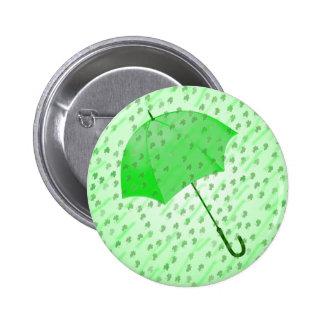 SHAMROCK RAIN by SHARON SHARPE 6 Cm Round Badge
