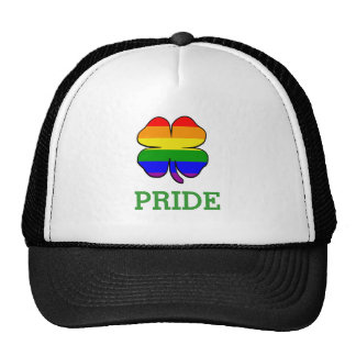 Shamrock Rainbow flag Gay Pride Cap