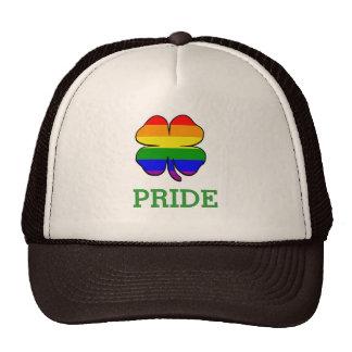 Shamrock Rainbow flag Gay Pride Mesh Hats