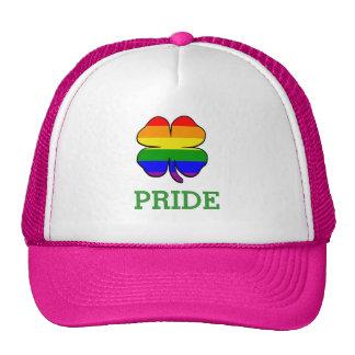 Shamrock Rainbow flag Gay Pride Trucker Hats