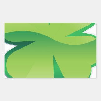 Shamrock Rectangular Sticker
