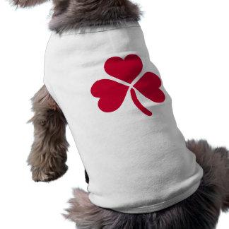Shamrock red hearts sleeveless dog shirt