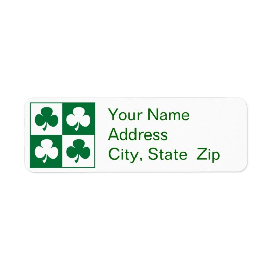 Shamrock Return Address Label