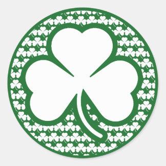 Shamrock Round Sticker