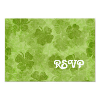 Shamrock RSVP Card 9 Cm X 13 Cm Invitation Card