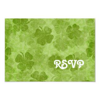 Shamrock RSVP Card 9 Cm X 13 Cm Invitation Card