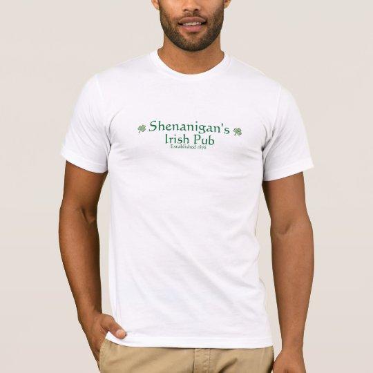 shamrock, shamrock, Shenanigan's , Irish Pub, E... T-Shirt