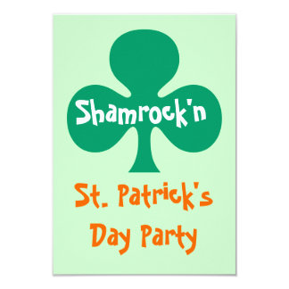 Shamrock shamrock'n party Invitation kelly green