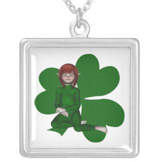 Shamrock Shannon Irish Elf Necklace