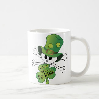 Shamrock Skull Coffee Mug