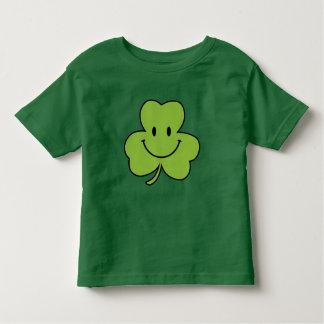 Shamrock Smiley Cute St. Patrick's Day Green Baby Toddler T-Shirt