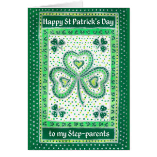 Shamrock St Patrick s Day Card for Stepparents