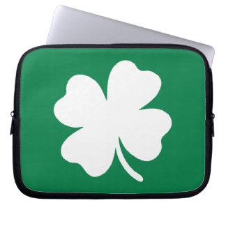 Shamrock  St Patricks Day Ireland Laptop Computer Sleeves