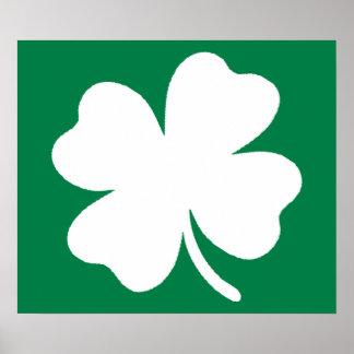 Shamrock  St Patricks Day Ireland Poster