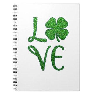 Shamrock. St. Patricks Day. Irish Clover Notebook