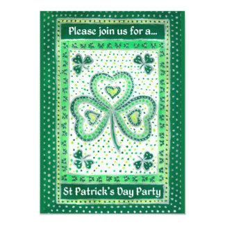 Shamrock St Patrick's Day Party Invitations 13 Cm X 18 Cm Invitation Card