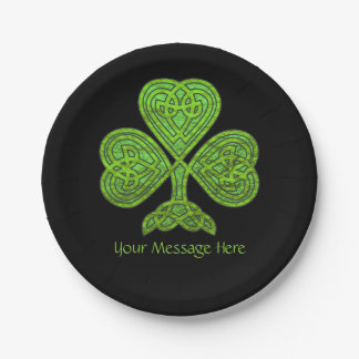 Shamrock St. Patrick's Day Personalized Paper Plate