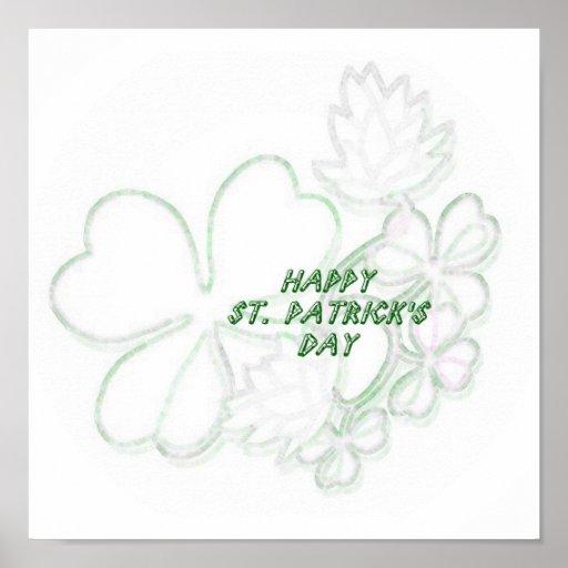 Shamrock St. Patrick's Day Print