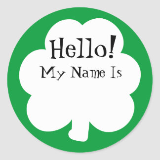 Shamrock Sticker Name Tags