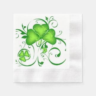 Shamrock Swirl Napkins Paper Serviettes