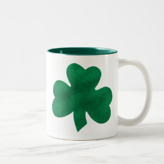 Shamrock Two-Tone Coffee Mug