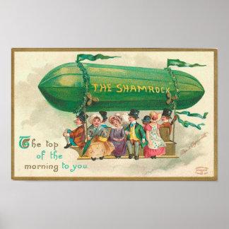 Shamrock Vintage St Patrick s Day Print