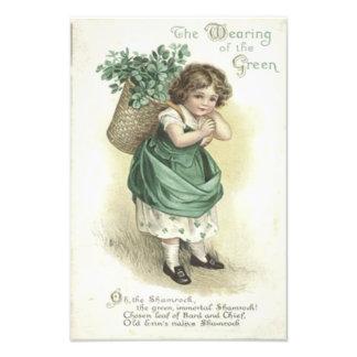 Shamrock Wearing Of The Green Victorian Girl Photo