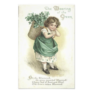 Shamrock Wearing Of The Green Victorian Girl Photograph