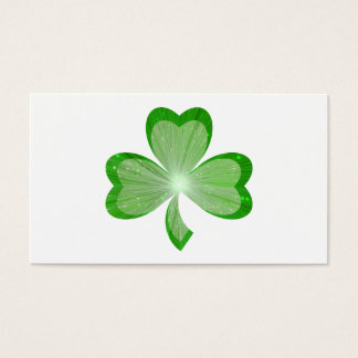 Shamrock White business card