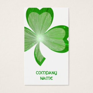 Shamrock White Large business card