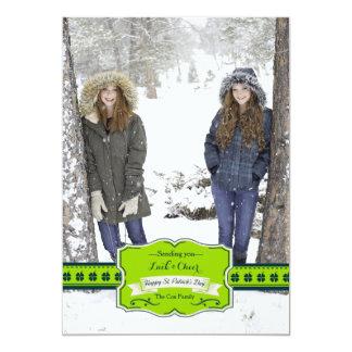 Shamrock Wish Photo Card 13 Cm X 18 Cm Invitation Card