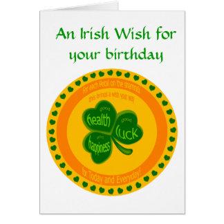 Shamrock Wishes Card