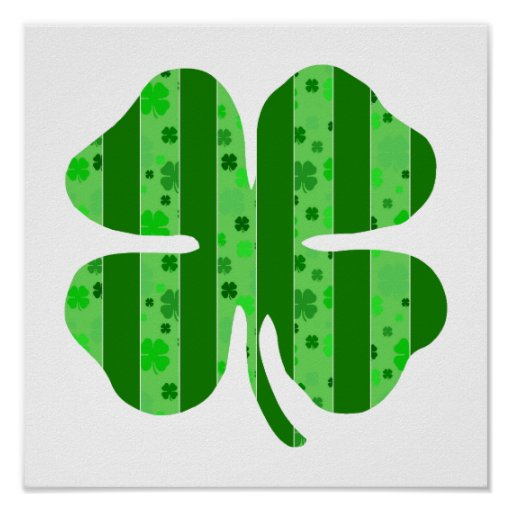 Shamrock with stripes.png print