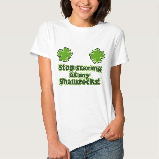 Shamrock women funny tshirts