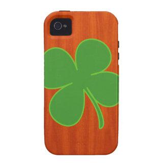 Shamrock Wood Grain iPhone 4 Case