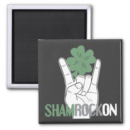 ShamRockOn Square Magnet