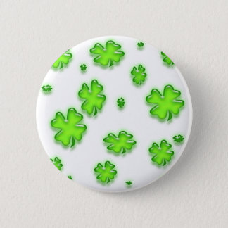 SHAMROCKS 6 CM ROUND BADGE