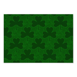 Shamrocks 9 Cm X 13 Cm Invitation Card