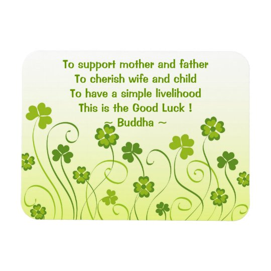 Shamrocks and clovers rectangular photo magnet