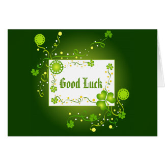 Shamrocks and Good Luck - Card