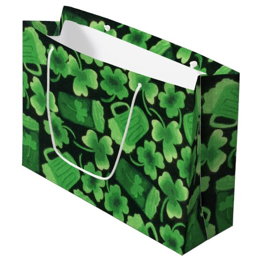 Shamrocks and Green Beers Large Gift Bag