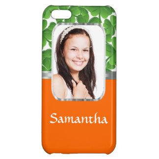 Shamrocks and orange iPhone 5C case
