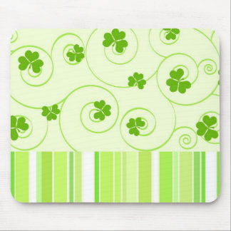 Shamrocks and Spirals Mouse Pad
