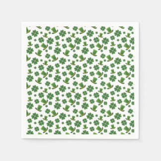 Shamrocks and Top Hats 1 Disposable Napkin
